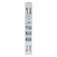 Extend-A-Shower Expanding Shower Rod - White Finish