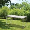 5 Fold n Half Aluminum Table