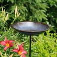 Circle Bird Bath Post, Cobalt Blue