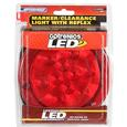 4 Round Sealed LED Stop, Turn, Tail Light; 10 Super Diode; Flange Mount w/Reflex Ring; Red; SMD