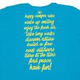 Ladies Happy Camper Tee, Sapphire Medium