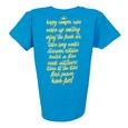 Womens Happy Camper Tee, Sapphire XL