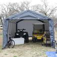 Peak Style Storage Shed 12 × 12 × 8 Gray Cover