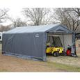 Peak Style Storage Shed 10 × 10 × 8 Gray Cover