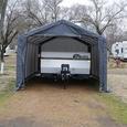 Auto Shelter 10 x 15 x 8 Peak Style Frame, Sandstone Cover