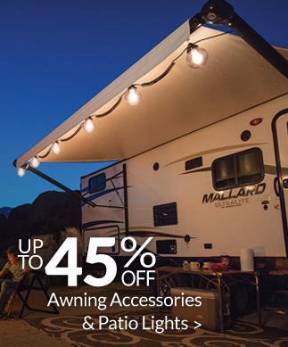 Save up to 45% on Awning Accessories & Patio Lights!