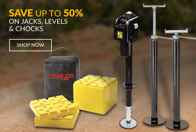 Save up to 55% on Jacks, Levels & Chocks