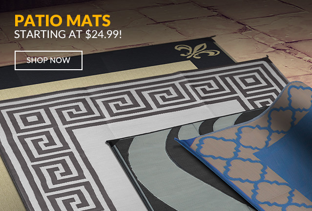 Patio Mats Starting at $24.99