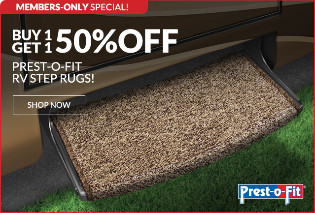 BOGO 50% Off Prest-o-Fit RV Step Rugs