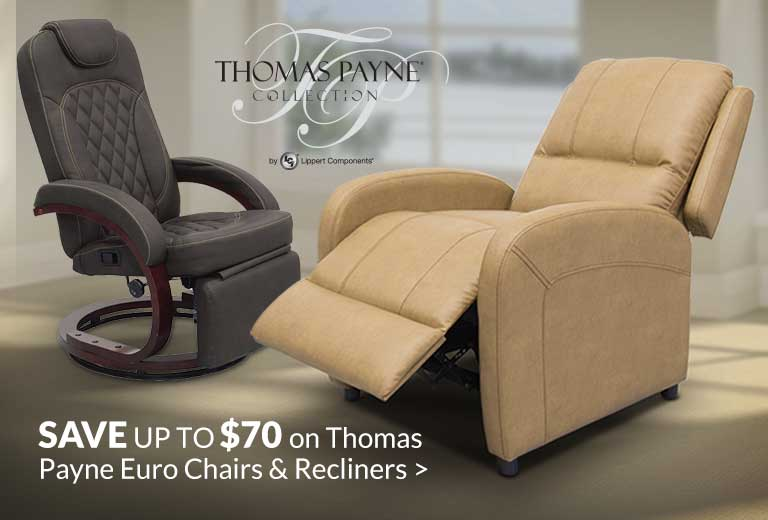 Save up to $70 on Thomas Payne Euro Chairs & Recliners >